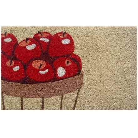 """Entryways Handwoven Coir Doormat - 18x30"""" in Apples - Closeouts"""