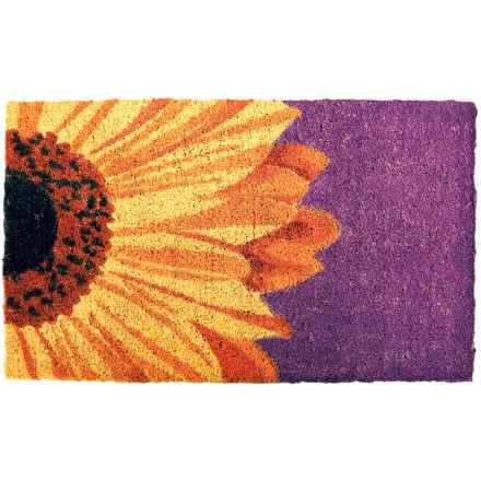 "Entryways Handwoven Coir Doormat - 18x30"" in One Sunflower - Closeouts"