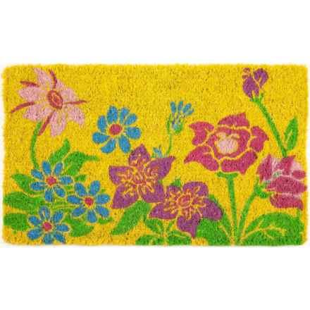 """Entryways Handwoven Coir Doormat - 18x30"""" in Wildflower Power - Closeouts"""
