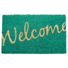 "Entryways Handwoven Coir Entry Mat - 17x28"" in Cursive Welcome - Overstock"