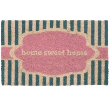 "Entryways Handwoven Coir Entry Mat - 17x28"" in Home Sweet Home/Stripes - Overstock"