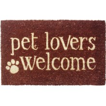 "Entryways Handwoven Coir Entry Mat - 17x28"" in Pet Lovers Welcome - Overstock"