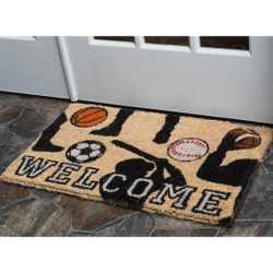 "Entryways Handwoven Coir Entry Mat - 18x30"" in Sports Welcome"
