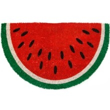 Entryways Handwoven Coir Watermelon Entry Mat in Watermelon Slice - Closeouts