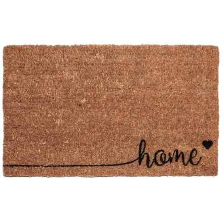 "Entryways Home Coir Doormat - 17x28"" in Brown/Black - Closeouts"