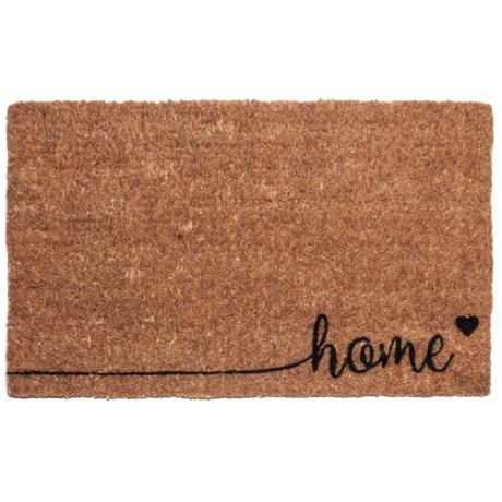 "Entryways Home Coir Doormat - 17x28"" in Brown/Black"