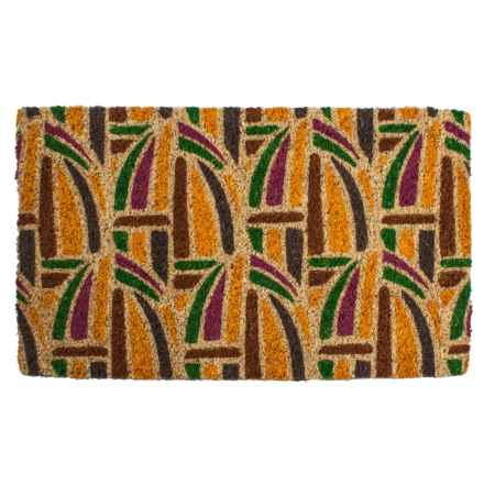 "Entryways Kaleidoscope Coir Doormat - 18x30"" in Brown/Yellow/Green/Purple - Closeouts"