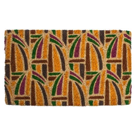 """Entryways Kaleidoscope Coir Doormat - 18x30"""" in Brown/Yellow/Green/Purple"""