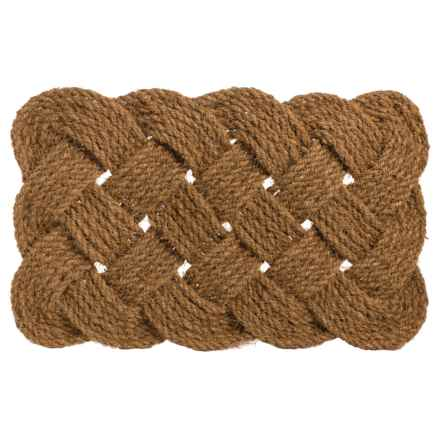 "Entryways Knot-Ical Handwoven Doormat - 18x30"" in Brown - Closeouts"