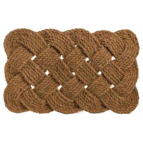 """Entryways Knot-Ical Handwoven Doormat - 18x30"""" in Brown"""
