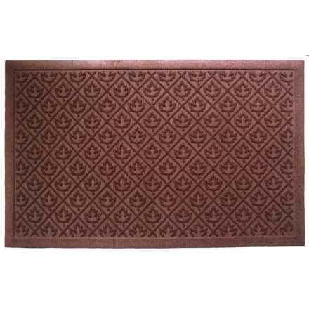 "Entryways Leaves Weather Beater Doormat - 22x35"" in Brown - Closeouts"