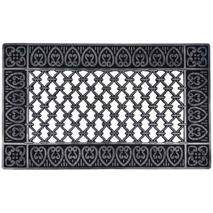 "Entryways Moroccan Rubber Doormat - 18x30"" in Black - Closeouts"