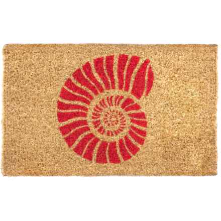 "Entryways Nautilus Handwoven Coir Doormat - 18x30"" in Red/Natural - Closeouts"