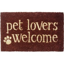 "Entryways Pet Lovers Welcome Coir Entry Mat - 17x28"" in Pet Lovers Welcome - Closeouts"