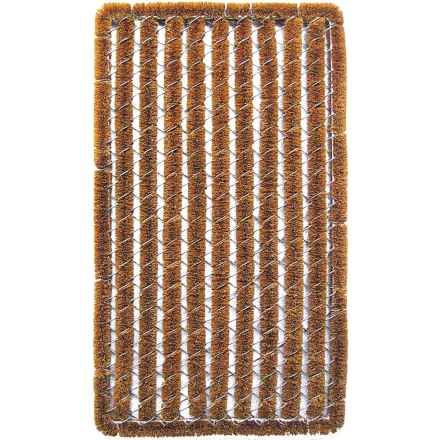 "Entryways Rectangular Stripe Wire Brush Bootscraper Coir Entry Mat - 16x27"" in Stripe - Closeouts"