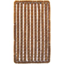 "Entryways Rectangular Stripe Wire Brush Bootscraper Coir Entry Mat - 18x30"" in Stripe - Closeouts"
