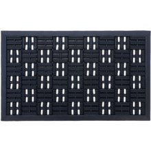 """Entryways Recycled Rubber Door Mat - 18x30"""" in Scraper Squares - Closeouts"""