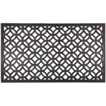 Entryways Recycled Rubber Door Mat in Circle Chains - Closeouts
