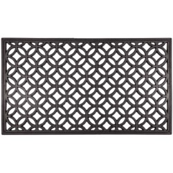 Entryways Recycled Rubber Door Mat in Circle Chains