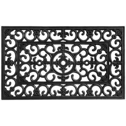 Entryways Recycled Rubber Door Mat in Fleur Di Lys - Closeouts