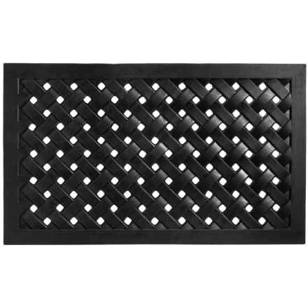 Entryways Recycled Rubber Door Mat in Woven - Closeouts