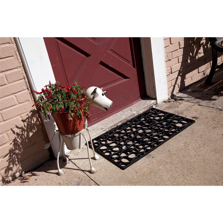 entryways recycled rubber door mat