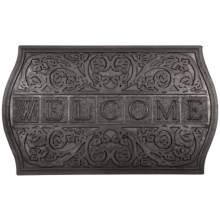 "Entryways Recycled Rubber Plaque Door Mat - 18x30"" in Welcome - Closeouts"