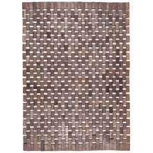Entryways Roosevelt Exotic Wood Mat in Black - Overstock