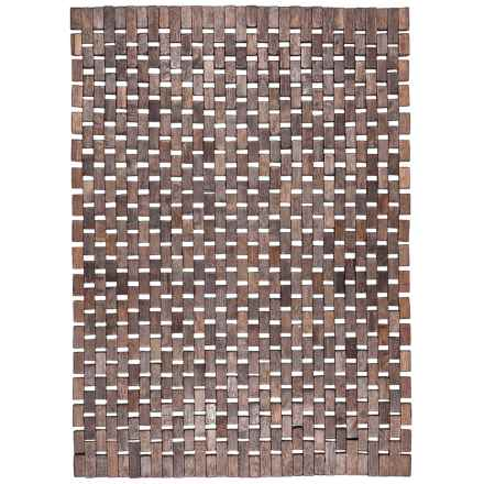 Entryways Roosevelt Exotic Wood Mat in Black - Overstock