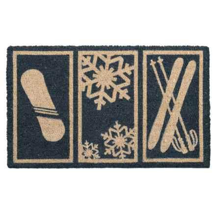 "Entryways Snowsports Coir Doormat - 17x28"" in Blue - Closeouts"