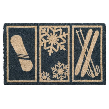 "Entryways Snowsports Coir Doormat - 17x28"" in Blue"