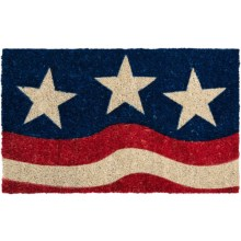 "Entryways Stars and Stripes Entry Mat - Coir, 17x28"" in Red/White/Blue - Overstock"