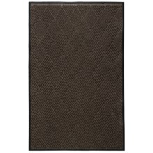 Entryways Ultra Durable Polypropylene Entry Mat - 4x6' in Brown Diamond - Closeouts