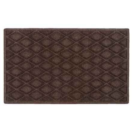 "Entryways Weather Beater Entry Door Mat - 18x30"", Polypropylene in Chocolate Diamonds - Closeouts"