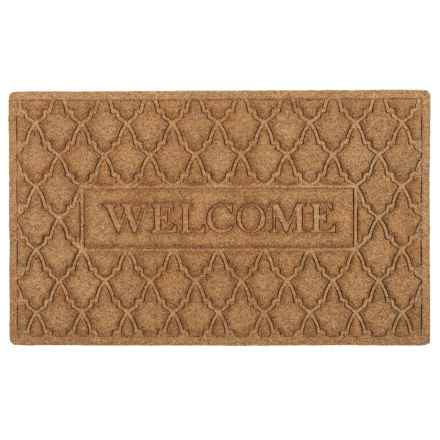 "Entryways Weather Beater Entry Door Mat - 18x30"", Polypropylene in Welcome Florence - Closeouts"