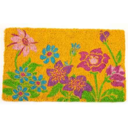 "Entryways Wildflower Power Coir Doormat - 18x30"" in Pink/Blue/Green - Closeouts"