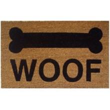 """Entryways Woof Coir Doormat - 17x28"""" in Woof - Closeouts"""