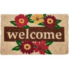 Entryways Wreath Welcome Coir Doormat in Wreath - Closeouts