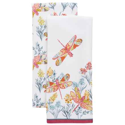 Envogue Appolonia Terry Kitchen Towels - Set of 2 in Multi - Overstock