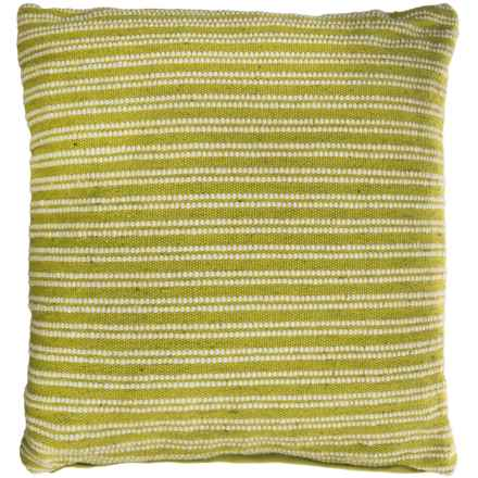"EnVogue Arden Woven Outdoor Throw Pillow - 24x24"" in Leafy Green - Closeouts"