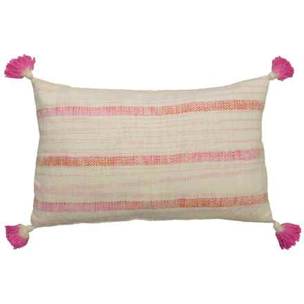 """EnVogue Aviva Stripe Throw Pillow - 16x26"""" in Pink - Closeouts"""