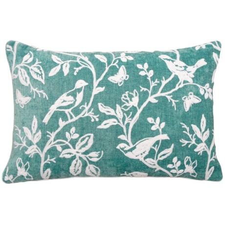 """EnVogue Bird Art Chenille Throw Pillow - 16x24"""", Feathers"""