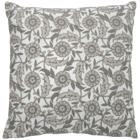 """EnVogue Callie Throw Pillow - 20x20"""", Feathers in Ivory"""