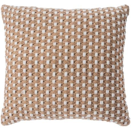 """EnVogue Eden Outdoor Throw Pillow - 24x24"""" in Natural"""