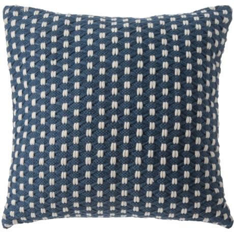 "EnVogue Eden Outdoor Throw Pillow - 24x24"" in Navy"