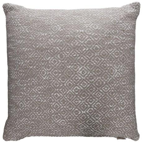 "EnVogue Ellis Diamond Decor Pillow - 22x22"", Duck Feathers in Grey"