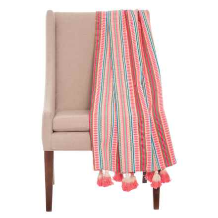 "EnVogue Fiesta Stripe Throw Blanket - 50x60"" in Multi - Closeouts"