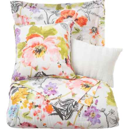 EnVogue Florabelle Cotton Sateen Comforter Set - King, 300 TC in Multi - Closeouts