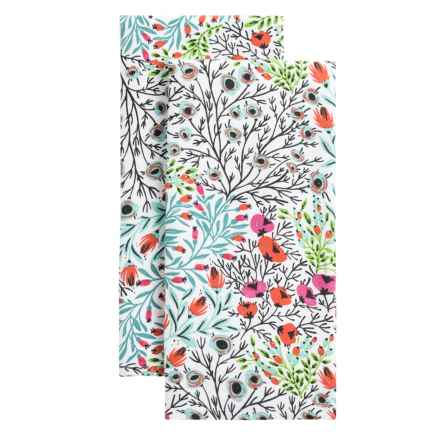 Envogue Flowerbed Kitchen Towels - Set of 2 in Multi - Overstock