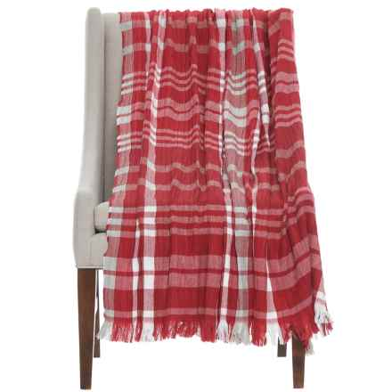 "EnVogue Jacquard Woven Throw Blanket - 50x60"" in Red - Closeouts"